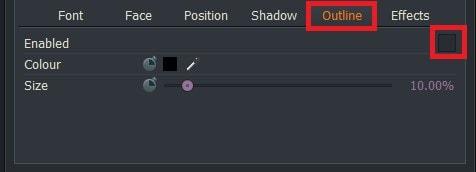 動画編集ソフトLightworks14 テキストテロップタイトルに枠線を追加する方法Outline