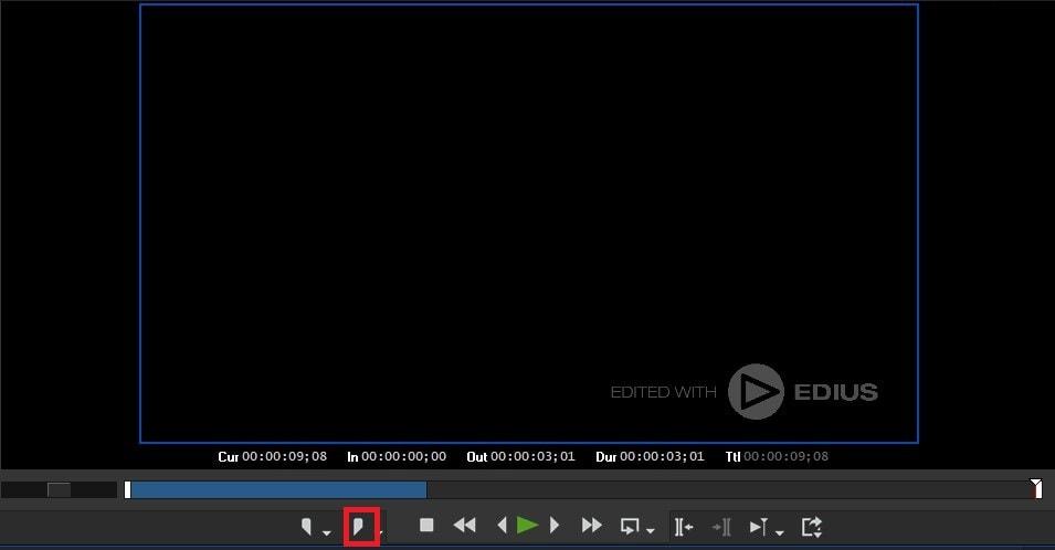 動画編集ソフトEDIUS Pro 9 タイムラインのアウトポイントの設定方法