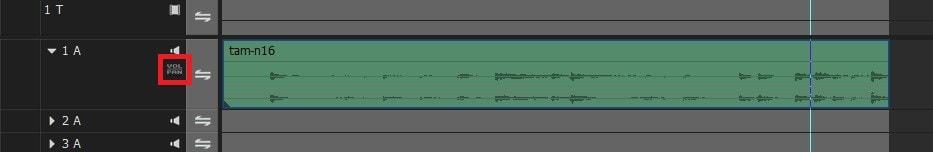 動画編集ソフトEDIUS Pro 9 BGM音楽をフェードアウトさせる方法 VOL/PANボタン
