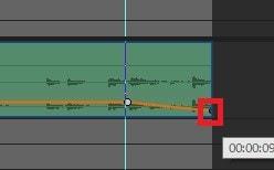 動画編集ソフトEDIUS Pro 9 BGM音楽をフェードアウトさせる方法 キーフレームの編集方法