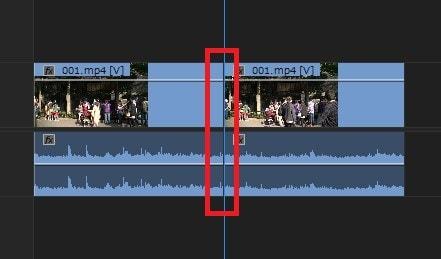 動画編集ソフトAdobe Premiere Pro CC タイムラインに動画ファイルを分割する方法 レーザーツール