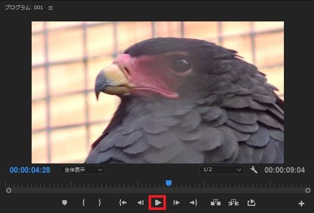 動画編集ソフトAdobe Premiere Pro CC タイムラインの動画を再生する方法
