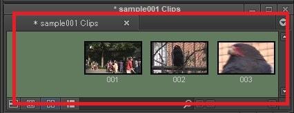 ビンに動画を取り込んだ動画編集ソフトAvid Media Composer