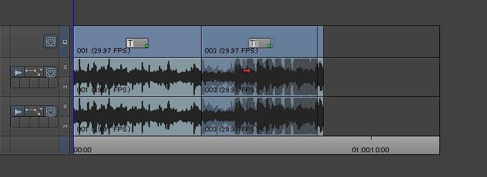 タイムラインの動画の位置を変更する方法 動画編集ソフトAvid Media Composer