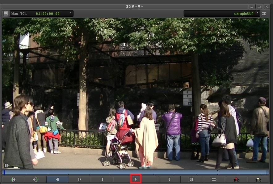 タイムラインをコンポーザーで再生する方法 動画編集ソフトAvid Media Composer