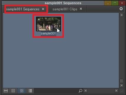タイムラインを書き出しする方法シーケンスの選択 動画編集ソフトAvid Media Composer