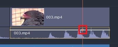 音量ポイントの追加方法 動画編集ソフトMovavi Video Editor