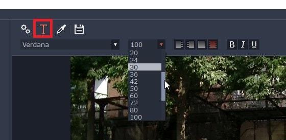 テキストテロップ(タイトル)のデザイン調整 動画編集ソフトMovavi Video Editor