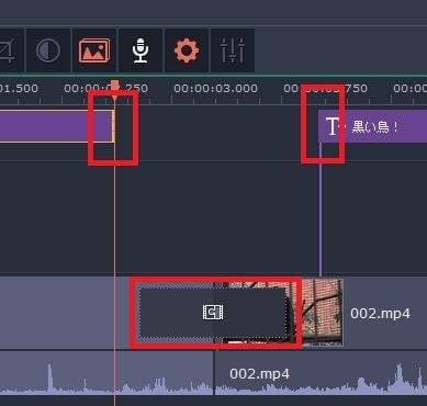 トランジションとテキストの編集  動画編集ソフトMovavi Video Editor