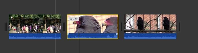 タイムライン内の動画の順番を変更する方法 動画編集ソフトiMovie'13(ver10)