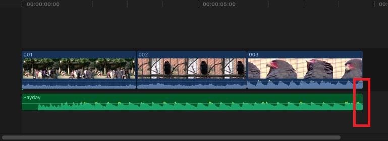 BGM音楽の長さを編集する方法 動画編集ソフトFinal Cut Pro X