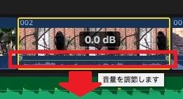 タイムラインで音量を調整する方法 動画編集ソフトFinal Cut Pro X