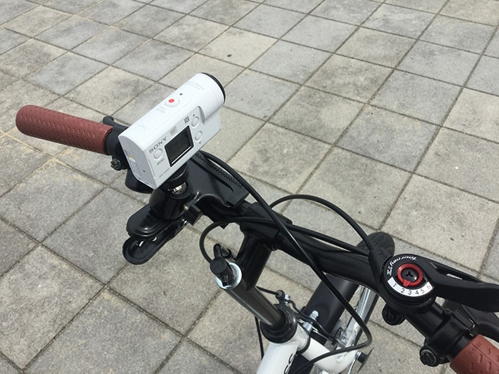 SONY FDR-X3000を自転車に固定し4K撮影 アクション・ウェアラブルカメラ