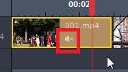 音声音楽をミュート無音化する方法 動画編集ソフトGOM Mix Pro