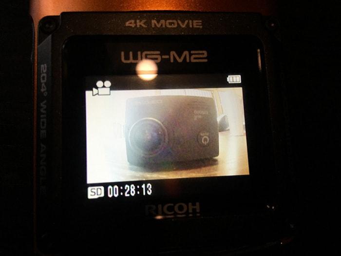 RICOH WG-M2画面 アクションカメラ