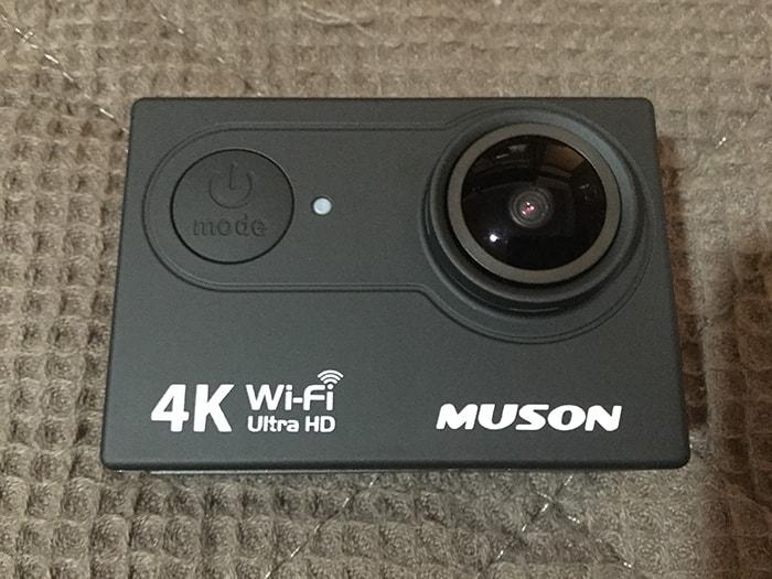 MUSON4K正面 アクション・ウェアラブルカメラ