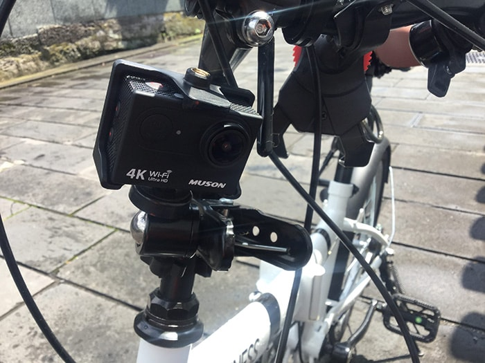 MUSON4K自転車搭載 アクション・ウェアラブルカメラ