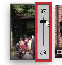 タイムライン内の動画の音量調整スライダー 動画編集ソフトMicrosoftフォト
