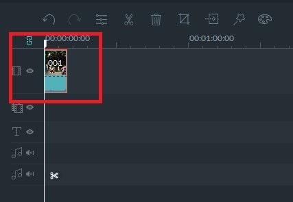 動画編集ソフト Filmora(フィモーラ) 動画ファイルをタイムライン上の動画ファイル