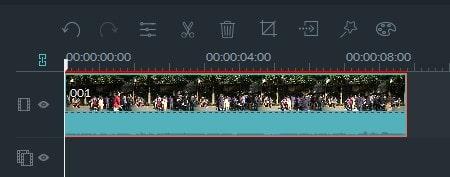 動画編集ソフト Filmora(フィモーラ) 動画ファイルをタイムラインの拡大縮小表示
