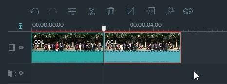 動画編集ソフト Filmora(フィモーラ) 動画ファイルの分割方法