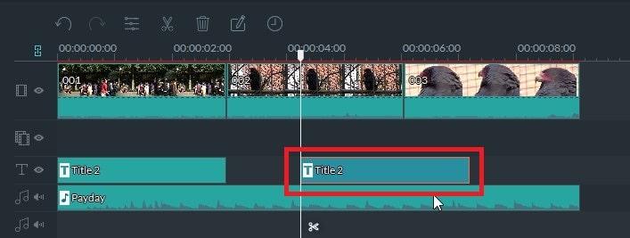 動画編集ソフト Filmora(フィモーラ)のテキストテロップクレジットのペースト