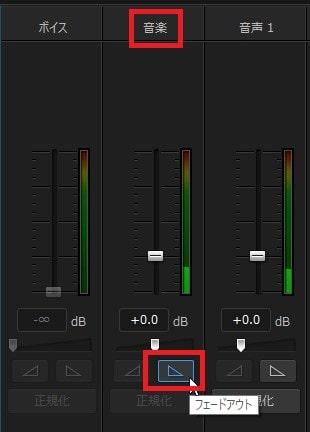 BGMのフェードアウト PowerDirector17の使い方