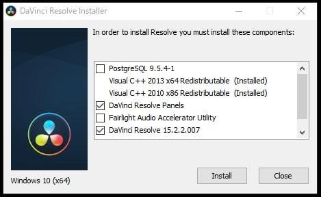 インストール 動画ソフトウェア 編集ソフトDaVinci Resolve
