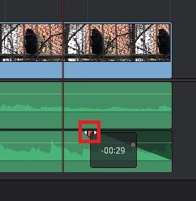 BGM音楽ファイルをフェードアウトさせる方法 DaVinci Resolve動画編集ソフト