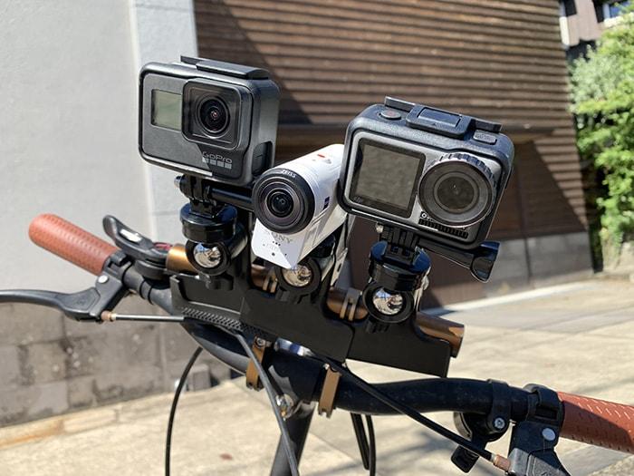 【比較】自転車に付けてOsmoAction GoProHERO7 SONY FDR-X3000 画質・ブレなど