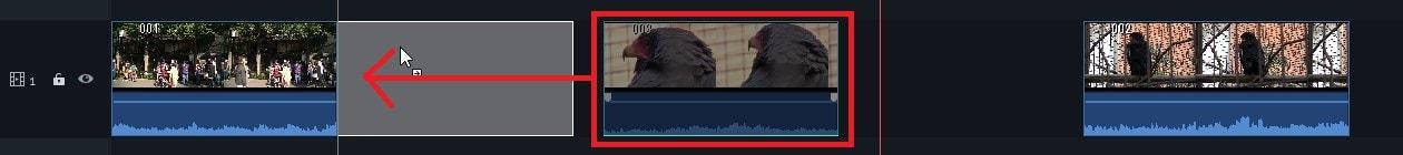 タイムラインの動画の位置を変更する方法 動画編集ソフト Filmora9(フィモーラ)