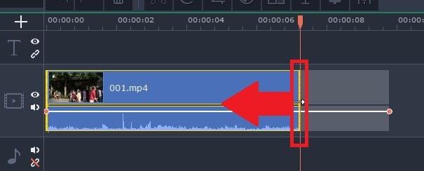 タイムラインの動画をカット編集する方法  動画編集ソフトMovavi Video Editor