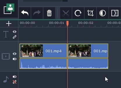 タイムラインの動画を分割カット編集する方法  動画編集ソフトMovavi Video Editor