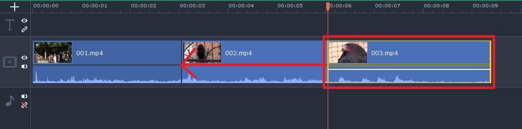 タイムラインの動画を移動する方法  動画編集ソフトMovavi Video Editor