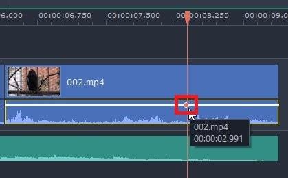 音量調整ポイントの追加方法  動画編集ソフトMovavi Video Editor