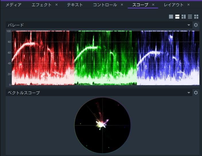 スコープ機能 動画編集ソフトFilmoraProフィモーラプロ入門