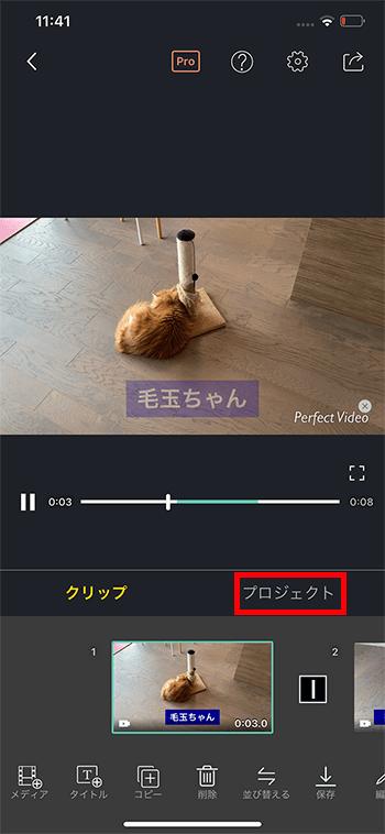 BGM音楽を入れる方法 動画編集アプリPerfectVideo