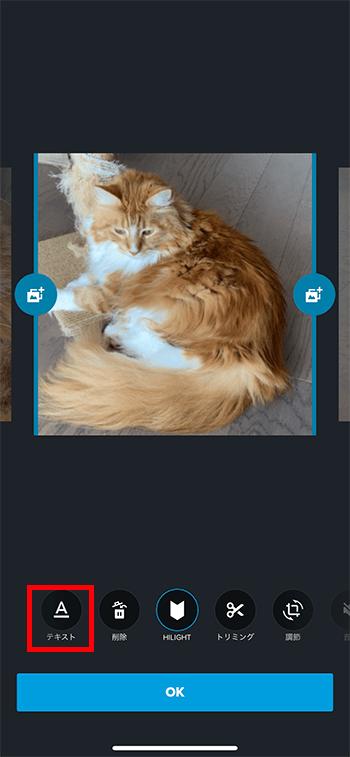 テキストテロップの挿入方法 動画編集アプリQuik GoProビデオエディタ