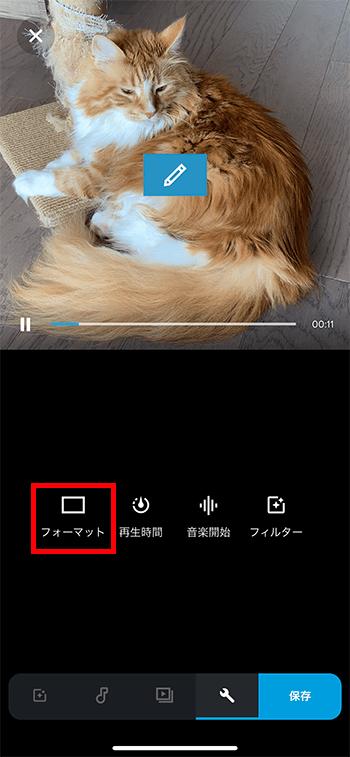 動画のフォーマット設定方法 動画編集アプリPerfectVideo