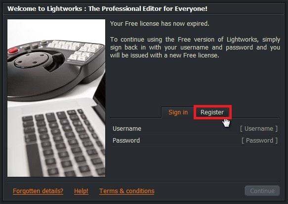初期設定会員登録の方法 Lightworksの使い方
