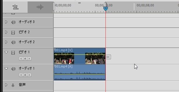 動画の削除方法 Adobe Premiere Elements2020