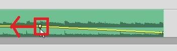 オーディオ編集キーフレーム Adobe Premiere Elements2020