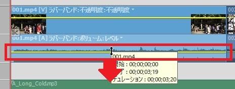 BGM音楽の音量調整方法 Adobe Premiere Elements2020