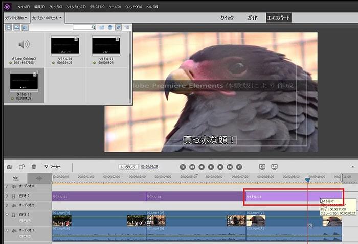 タイトルテキストテロップの編集方法 Adobe Premiere Elements2020 Adobe Premiere Elements2020