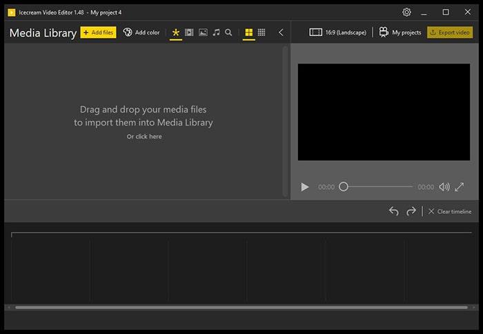 新規プロジェクトの作り方 IcecreamVideoEditor