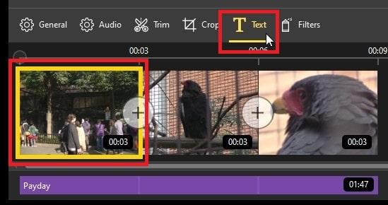 テキストテロップの挿入方法 IcecreamVideoEditor
