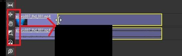 トリミングカットの方法 Olive動画編集ソフト
