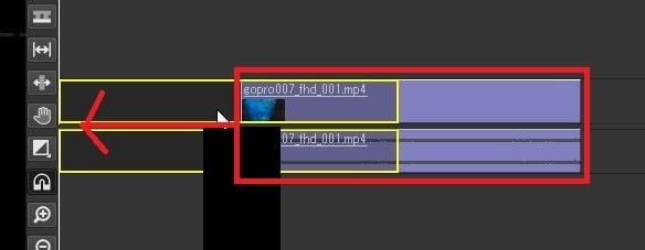 動画ファイルを移動させる方法 Olive動画編集ソフト