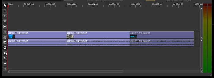 タイムラインを拡大縮小する方法 Olive動画編集ソフト