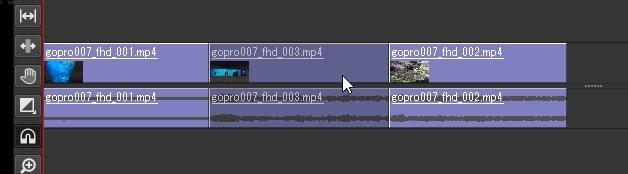 動画の位置を変更する方法 Olive動画編集ソフト